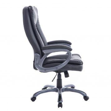 Scaun directorial Comodo B124 negru, piele ecologica /promotii scaune.ro
