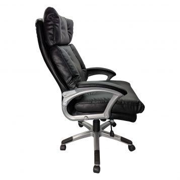 Scaun directorial Comodo B145, negru, confort extrem, Confortul spumei Memory/promotii scaune.ro