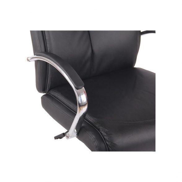 Zendeco.ro-Scaun ergonomic Zen B120 negur si cromat, piele ecologica (3)