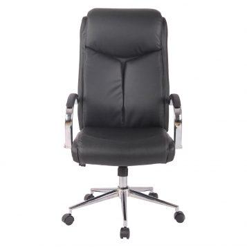 Scaun ergonomic Zen B120 negur si cromat, piele ecologica/Zendeco.ro