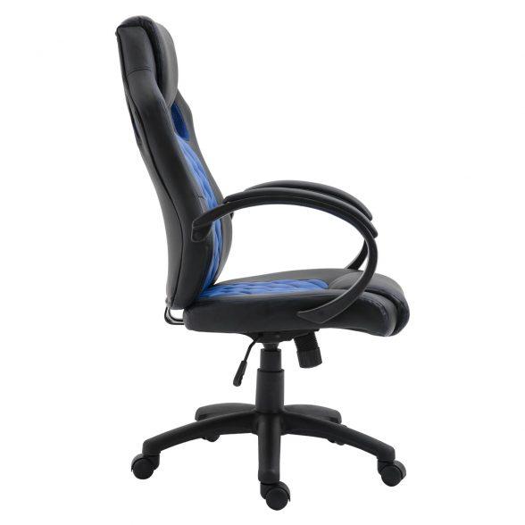 Zendeco.ro-Scaun gaming Arka B116,negru albastru, piele ecologica