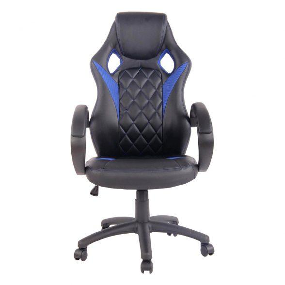 Zendeco.ro-Scaun gaming Arka B117,negru albastru, piele ecologica