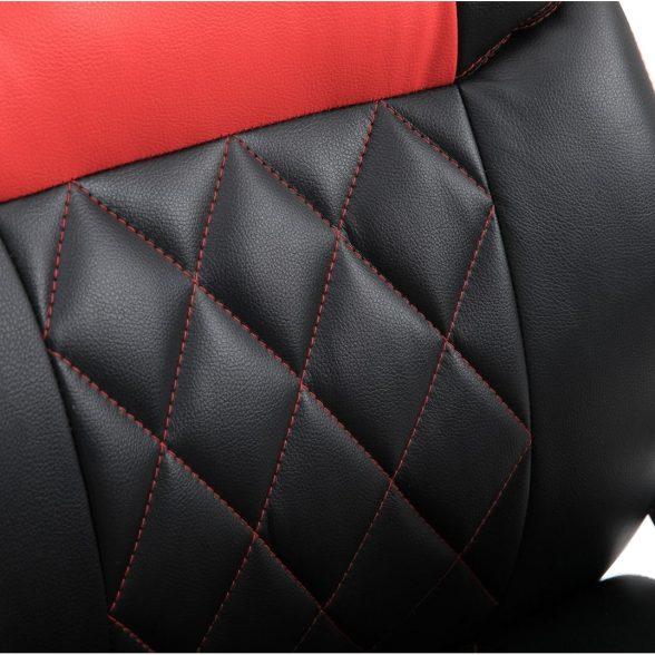 Zendeco.ro-Scaun gaming Arka B117,negru rosu, piele ecologica
