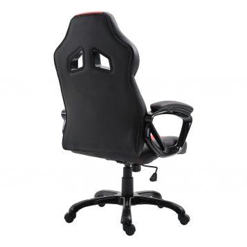 Scaun gaming Arka B127,negru rosu, piele ecologica/promotii scaune.ro