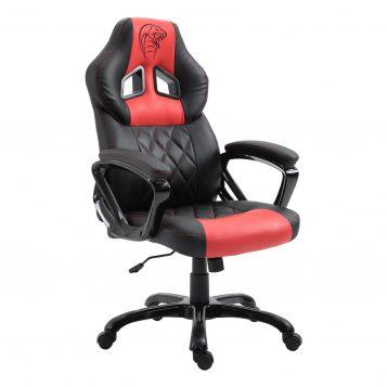 Scaun gaming Arka B127,negru rosu, piele ecologica//Zendeco.ro