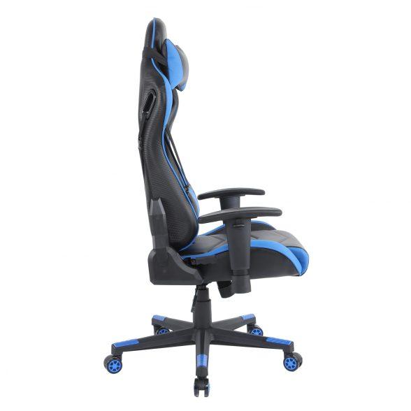 Zendeco.ro-Scaun gaming Arka B144 Racing,negru si albastru, spatar reglabila piele ecologica (3)