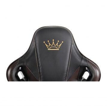 Scaun gaming Arka B144 Racing,negru si maro, spatar reglabila piele ecologica/Promotii scaune.ro