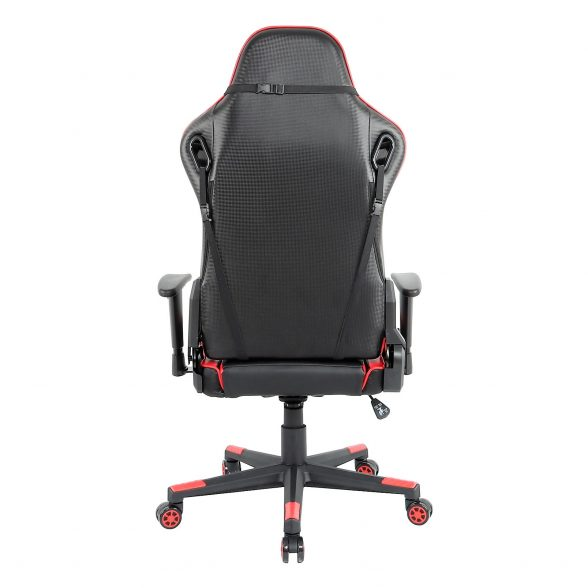 Promotii scaune.ro-Scaun gaming Arka B147 Racing,negru si rosu, spatar reglabila piele ecologica (1)