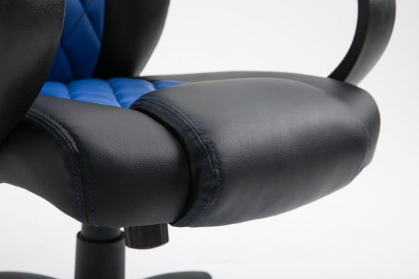 Promotii scaune.ro/Scaun gaming Arka B116,negru albastru, piele ecologica