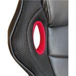 Promotii scaune.ro/Scaun gaming B19 Dragon,cu brate, negru rosu,piele ecologica si mesh