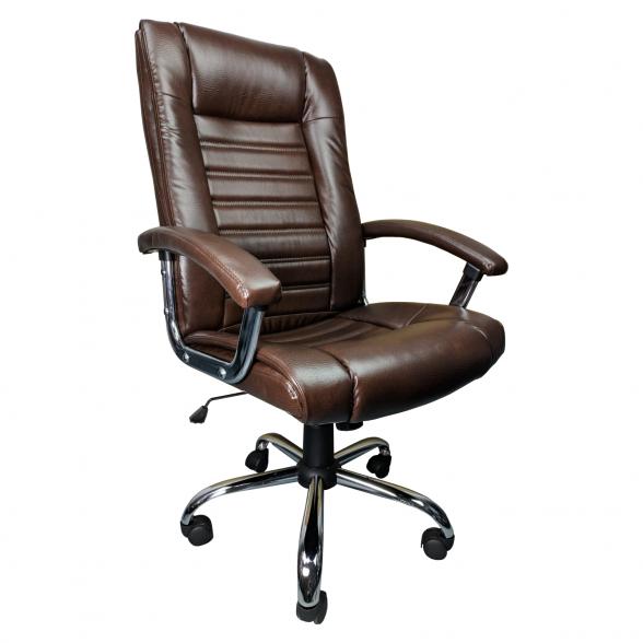 Scaun birou Zendeco B91, maro, piele ecologica-zendeco (2)