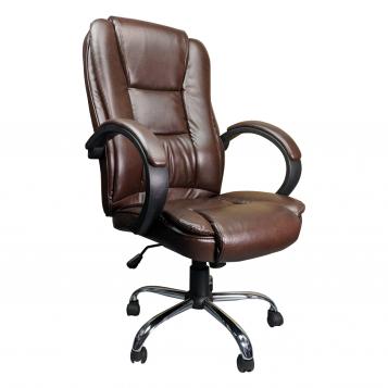 Scaun directorial Zen B150 maro, picior metal/promotii scaune.ro