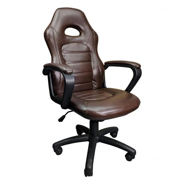 Promotii scaune .ro/Scaun gaming Zen B149 maro,piele ecologica perforata anti transpiratie