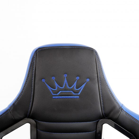 Promotii scaune.ro-Scaun Gaming Arka Luxury B146b negru albastru (1)