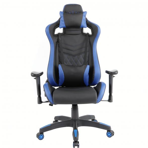 Zendeco.ro-Scaun Gaming Arka Luxury B146b negru albastru