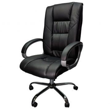 Scaun directorial B154, Negru, Baza metal/promotii scaune.ro