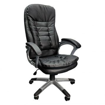 Scaun directorial Skay B153, negru, piele ecologica, zendeco.ro/promotii scaune.ro