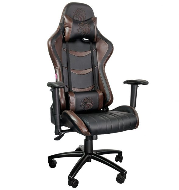 Promotii scaune.ro/Scaun gaming Arka eagle B151, black brown-Zendeco.ro