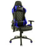Scaun gaming Arka B56 albastru piele perforata anti transpiratie