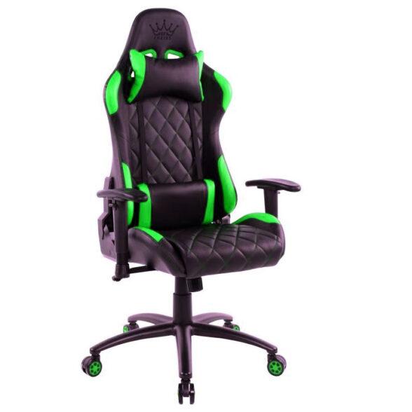 Zendeco.ro-Scaun gaming Arka B56 verde, piele perforata anti transpiratie