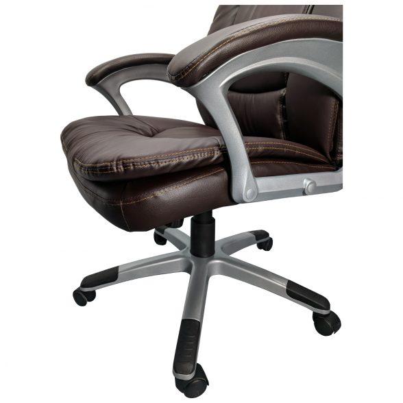Promotii scaune.ro-scaun de birou Comodo B142 maro, piele ecologica