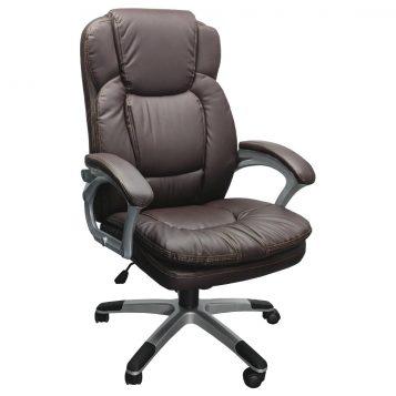 scaun de birou Comodo B142 maro, piele ecologica/promotii scaune.ro