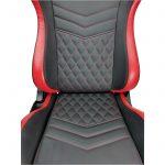 Promotii scaune.ro/Scaun Gaming  Arka Luxury B146B, negru/rosu
