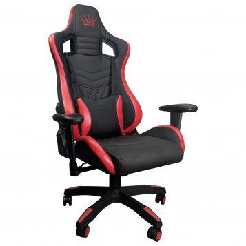 Scaun Gaming Arka Luxury B146B, negru/rosu/promotii scaune.ro