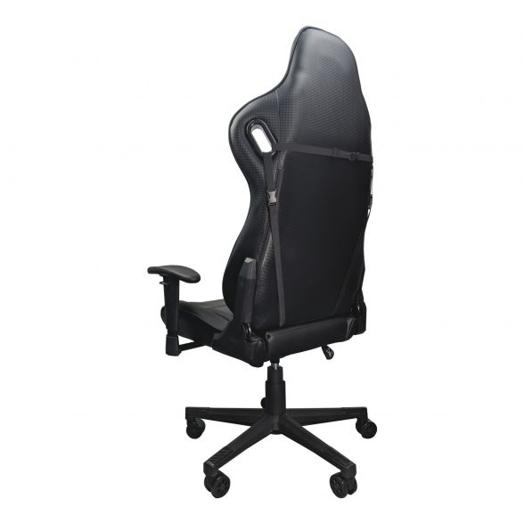 Promotii scaune.ro/-Scaun gaming Arka B147 Racing, negru, spatar reglabila piele ecologica