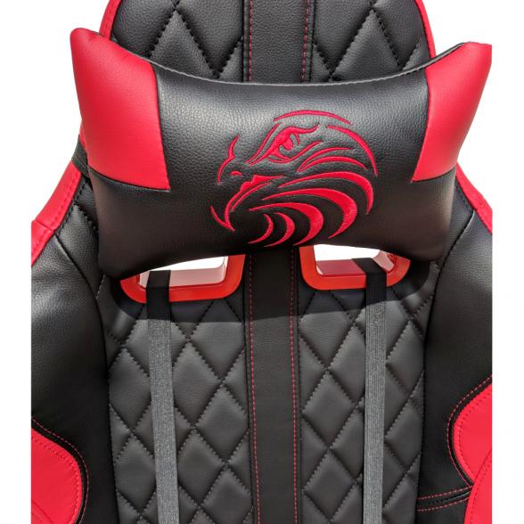 Scaun gaming Arka Aigle B52 negru-rosu (5)