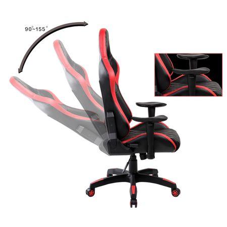 Scaun gaming Arka Aigle B52 negru-rosu Zendeco.ro