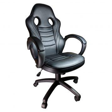 Scaun Gaming Arka B99, Allblack,piele perforata, piele ecologica/promotii scaune.ro