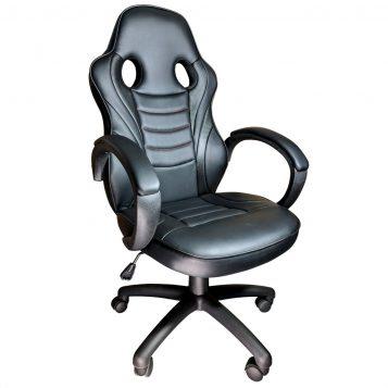 Scaun Gaming Arka B99, Black 3D,piele perforata, piele ecologica/Promotii scaune.ro