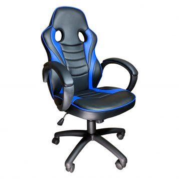 Scaun Gaming Arka B99, blue,piele perforata, piele ecologica/promotii scaune.ro