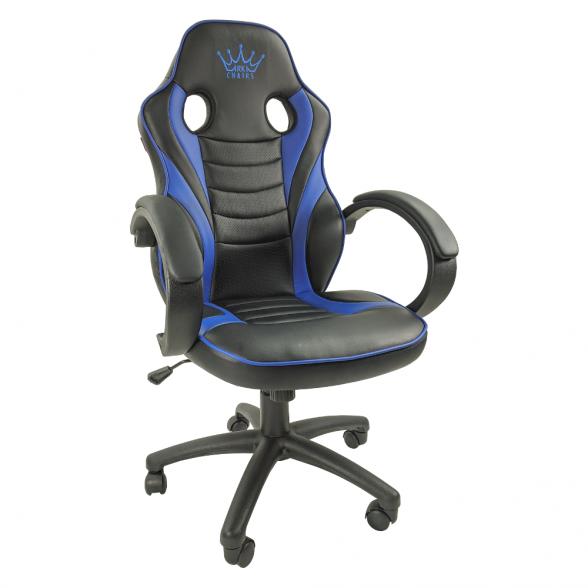 Zendeco.ro-Scaun Gaming Arka B99, blue,piele perforata, piele ecologica