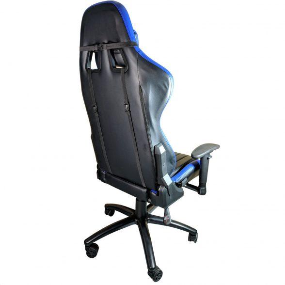 Promotii scaune.ro-Scaun Gaming B151 Dragon, blue, piele ecologica