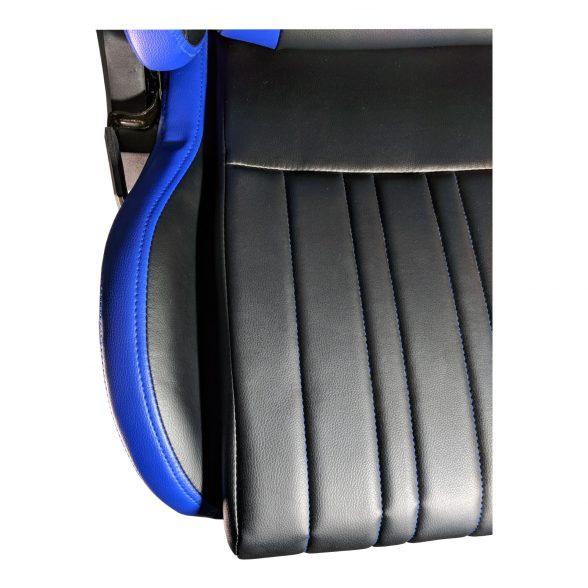 Zendeco.ro-Scaun Gaming B151 Dragon, blue, piele ecologica
