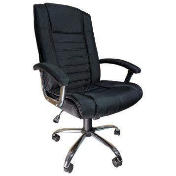 Scaun birou Arka B91, black textile cu baza cromata/promotii scaune.ro