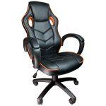 Scaun gaming Arka b19 portocaliu, piele perforata anti transpiratie/promotii scaune.ro