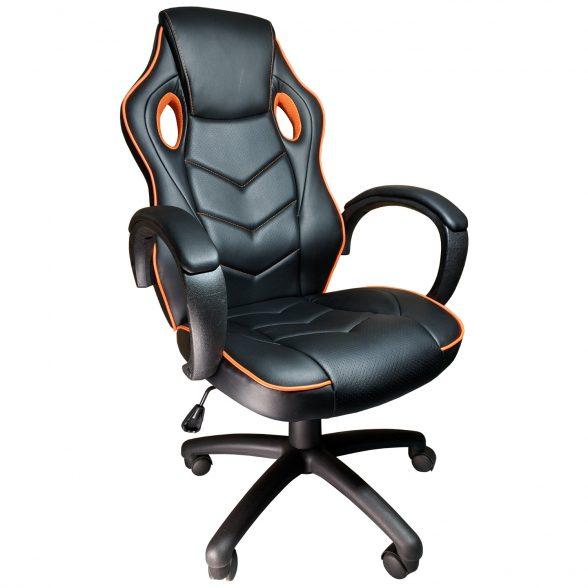 Promotii scaune.ro-Scaun gaming Arka b19 portocaliu, piele perforata anti transpiratie