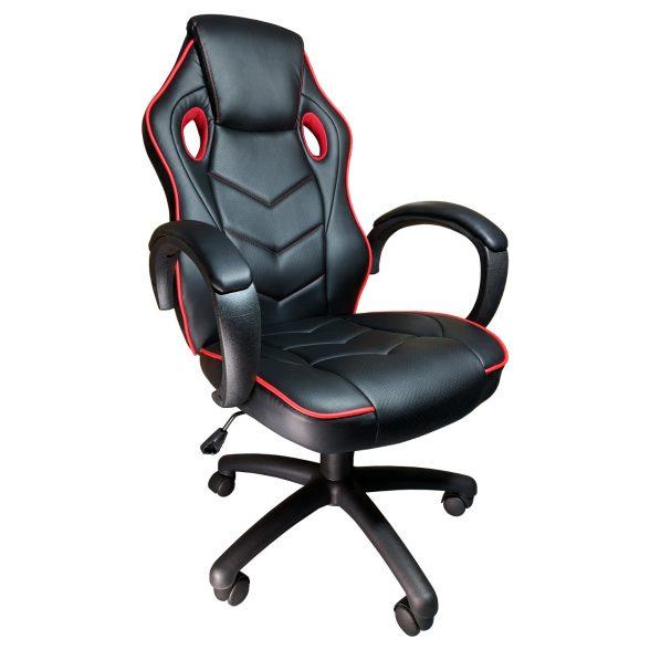 Promotii scaune.ro-Scaun gaming Arka b19 rosu, piele perforata anti transpiratie