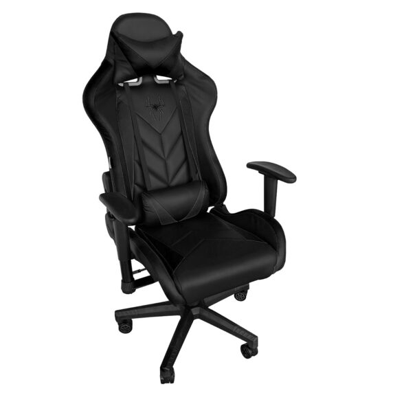 Scaun gaming Phoenix B200 Spider, Black, piele  ecologica