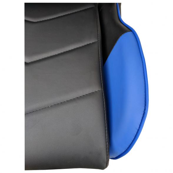 Scaun gaming Arka B206 Spider, black blue, piele ecologica