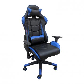 Scaun gaming Arka B206 Spider, black blue, piele ecologica/Promotii scaune.ro
