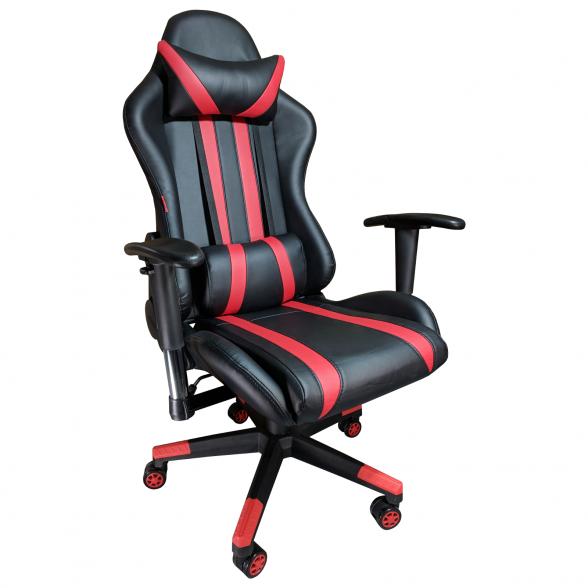Promotii scaune.ro-Scaun Gaming Arka B202 Luxor black red, piele ecologica