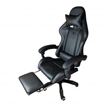 Scaun Gaming Arka B204 SPIDER black cu suport picioare, piele ecologica si perforata/Promotii scaune.ro