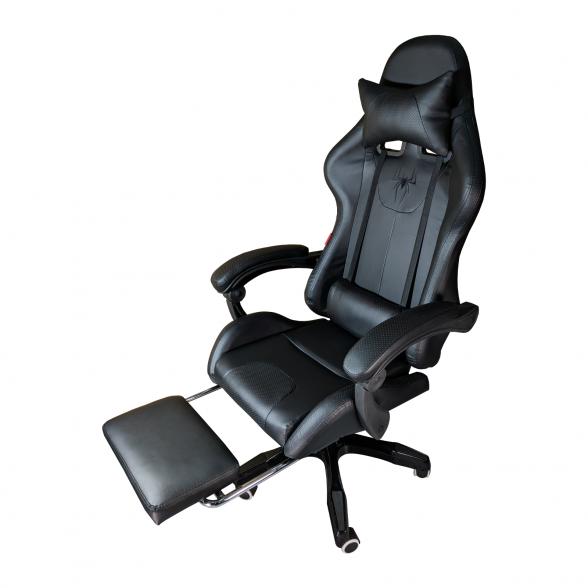 Promotii scaune.ro-Scaun Gaming Arka B204 SPIDER black cu suport picioare