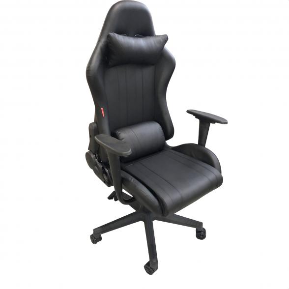 Promotii scaune.ro-Scaun Gaming B201 V5 black, piele ecologica