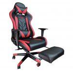Scaun Gaming B207 SPIDER black red cu suport picioare/Promotii scaune.ro