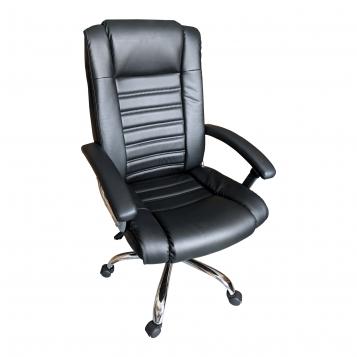 Scaun birou B91 black, piele anti transpiratie, perforata, ecologica/Promotii scaune.ro